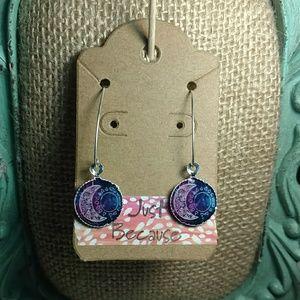 Jewelry - Moon and sun Galaxy Earrings